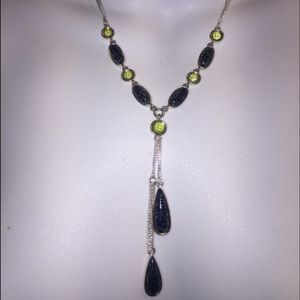 Jewelry - Grey & green Y style necklace from Kohl's